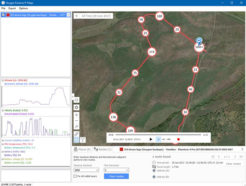 Oxygen Forensic Detective Drone Data
